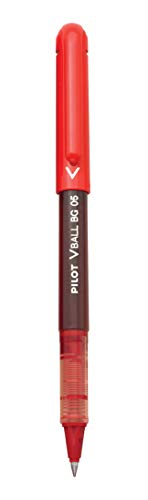 PILOT VBall BeGreen Liquid Ink Rolling Ball Stick Pens, Extra Fine Point, Red Ink, 12-Pack (53208)