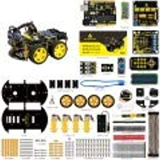 Multifunctional Smart Robot Car 4WD- Micro Controller Design - Obstacle Avoidance & Bluetooth Remote Control - External Circuit Modules & Learning Application Development- Easy to Use & Convenient
