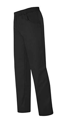 MONZA OBREROL Pantalón Largo Cocina Unisex Color Negro con Bolsillos Y Cintura elástica. Cocinero/Cocinera/Hostelería. Talla XL. Ref: 4115. Disfruta de la Excelencia