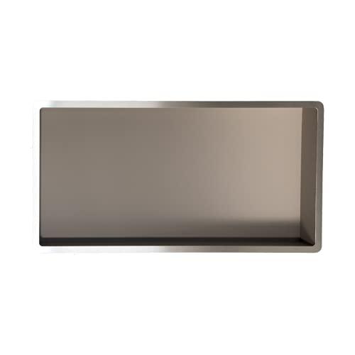 Estantes de baño | estante de ducha empotrado de pared acero inox, 60x30, nicho de ducha COMPONENDO, Made In Italy (Color VISÓN)
