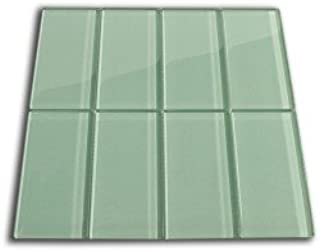 Sage Green Glass Subway Tile 1 sq.ft. (Eight 3