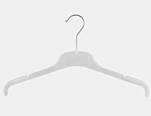 Kleiderbügel für Blusen, Shirt und Kostüme, 38cm, transparent, FO1-38c, 20 Stück