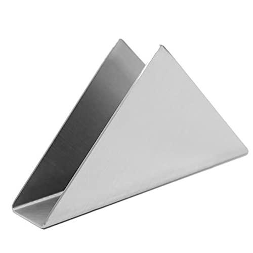 solawill Porte Serviettes Triangulaire de Table, Simplicité Acier Inoxydable Porte-ServietteTriangle Décor Papier Triangle Porte Serviettes Vertical Européen pour Cuisine Bureau Table à Manger