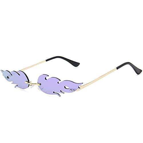 Froiny Fuego Llama Gafas De Mujeres Hombres Radless Ola Gafas Gafas Estrechas Gafas