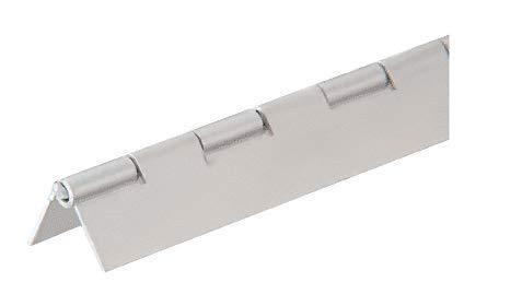 CRL 6D665A Satin Anodized 3/4' Aluminum Piano Hinge - 6' 72' Stock Length