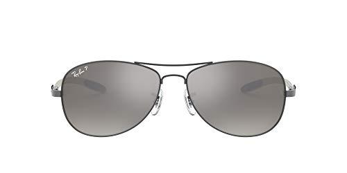 RAY-BAN Gafas de sol para hombre 8301 SOLE004 / N8, gris (montura: vidrio de bronce: gris polarizado 004 / N8), grande (tamaño del fabricante: 59)