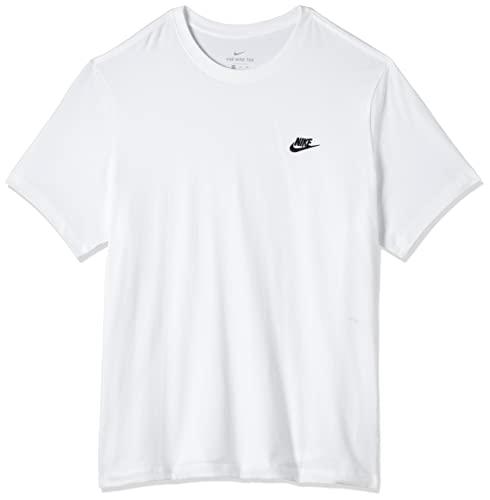 Nike Sportswear Club Men's Tshirt Uomo, White/Black, M