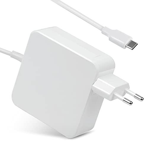 65W/61W Adaptador de Corriente USB C Cargador Compatible con MacBook Pro 13 Pulgadas 2016 /2017 /2018, A1706 /A1707 /A1708 /A1534; Lenovo ThinkPad, Chromebook, HP, DELL, Xiaomi Air, HUAWEI, SAMSUNG