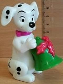 1996 McDonald's Happy Meal 101 Dalmatians Series - Dalmation #21 with Green Christmas Bell