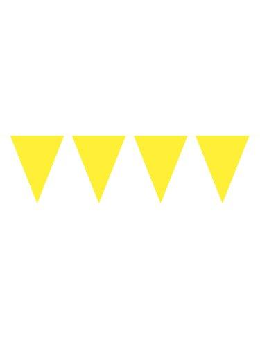 Folat Party Dekorationen 10Meter Wimpelkette mit 15Flaggen –, gelb