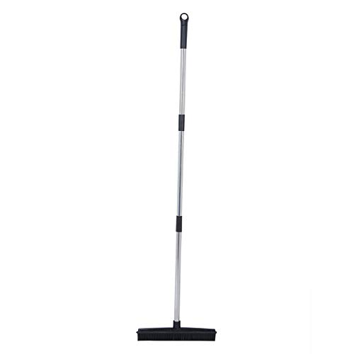 Barredora de Piso, escobilla de Goma fácil de Limpiar Borde de 48.0in Eliminación de Polvo Escoba para Pisos, Alfombras para Pisos(Black)