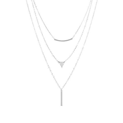 Collar Shangjie Beat Codo Triángulo Lentejuelas Barra de metal Collar combinado