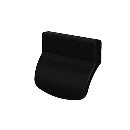 MS Beschläge® Balkontürgriff Terassentürgriff Ziehgriff aus Kunststoff in verschiedenen Farben (Schwarz - RAL 905)