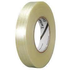 Virtue Retail Filament Umreifungsband, sehr stark und strapazierfähig, glasfaserverstärktes Klebeband, klar, für Fledermäuse, Verpackung, idealer Schutz, für Metall, Holz, 18 mm x 30 m