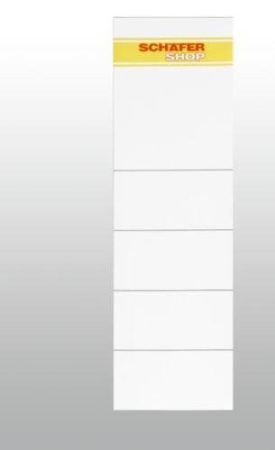 SCHÄFER SHOP Rückenschilder für PVC-Ordner, Rückenbreite 80 mm, Einsteckschild, 10 Stück