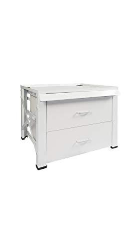 Unterbausockel mit Schublade für Waschmaschinen und Trockner, weiß