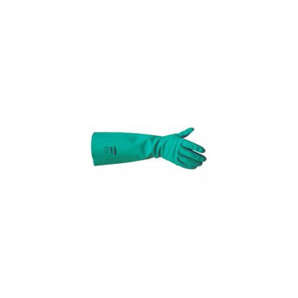 学習ブースヒゲキンバリークラーク25623ジャクソンセーフティG80ニトリル耐薬品性手袋、カフ付き、定格ペア、45 cm、グリーン(12個入り)