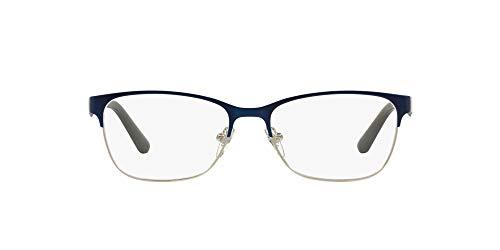 Vogue Vo3940 - Marcos de anteojos para mujer, Lente azul cepillado/plateado/demostración., 52 mm