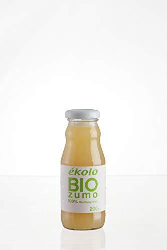 Ekolo Zumo de Manzana Kiwi Ecológico, 100% Exprimido, 12 Botellas x 200 ml, 2400 ml