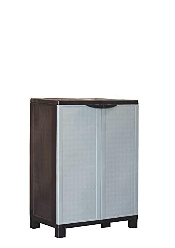 Cilvani Armario Box de exterior de resina con todo tipo de pisos, escobero (67 x 37 x 167 cm) y bajo (67 x 37 x 89 cm) (bajo)