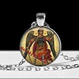 Colgante Michael Arcángel, collar de ángel, talismán mágico, amule