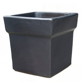 98619740 Pot « Umbria Niger » rectangulaire en grès Anthracite