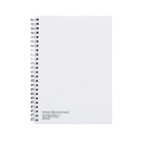 ZNZNN Cuaderno Espiral Agenda Horizontal Bloc De Notas De PP Adecuado para Material Escolar De Oficina Y Hogar (80 Páginas) Regalo Cuaderno Multifuncional (Color : A5 White)
