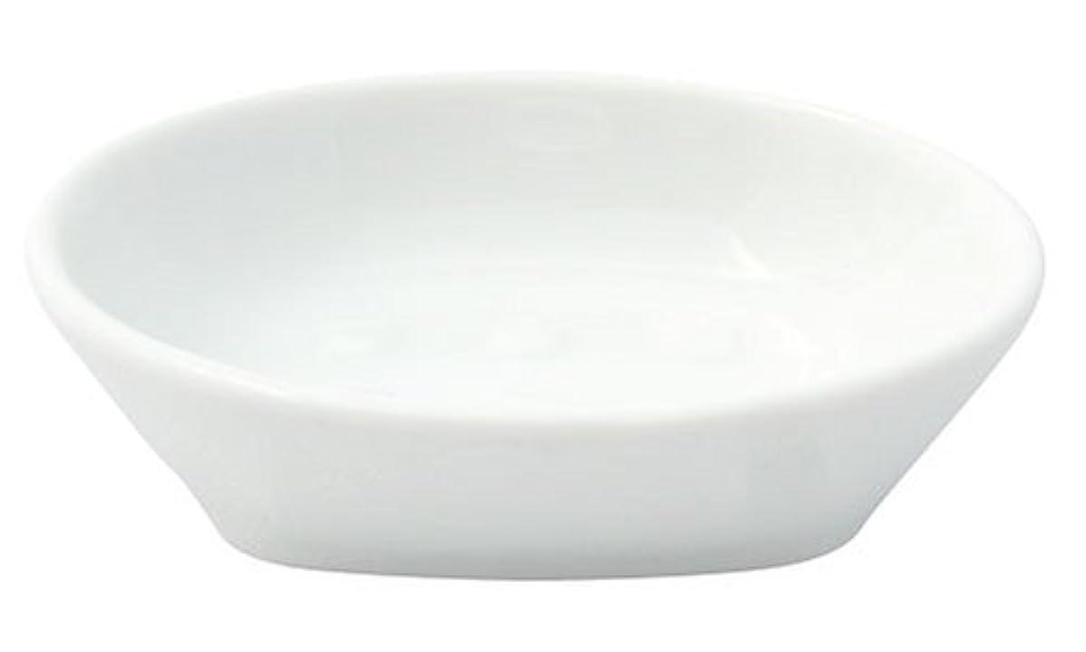 食事を調理する因子菊フリート ホワイトポーセレン ソープディッシュ