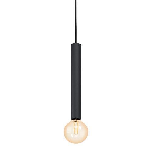 EGLO Pendelleuchte Cortenova, 1 flammige Schnurpendel Hängelampe Industrial, Modern, Hängeleuchte aus Stahl in Schwarz, Esstischlampe, Wohnzimmerlampe hängend mit E27 Fassung