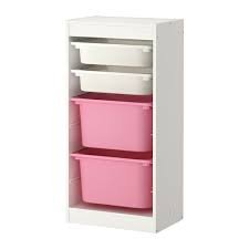 Storage combination with boxes TROFAST white/pink