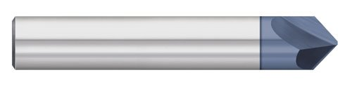 Titan TC87705 Solid Carbide Chamfer Mill, 2 Flute, Single End, 100 Degree Angle, AlTiN Coated, 1/2' Size, 1/2' Shank Diameter, 3' Overall Length