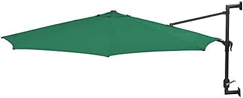 UWY Sombrilla para jardín Sombrilla para el Sol Paraso montado en la Pared para jardín, césped, jardín, Exterior, 300 cm, Cubierta Exterior para sombrilla de jardín, Resistente con Poste de Meta
