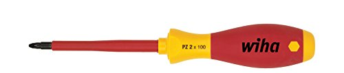 Wiha Schraubendreher SoftFinish® electric Pozidriv (00880) PZ3 x 150 mm  VDE geprüft, stückgeprüft, ergonomischer Griff für kraftvolles Drehen, Allrounder für Elektriker