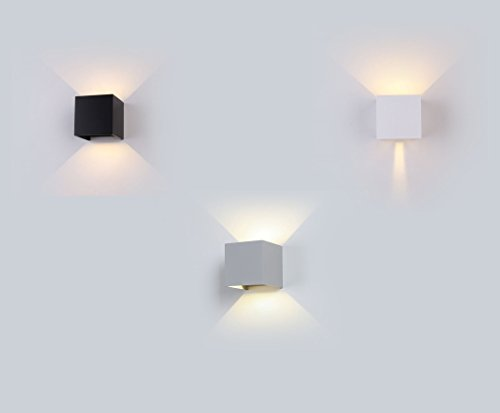 V-TAC SKU.7078 Applique Murale LED 6W Carre Noir IP65 VT-759, Plastique,et Autre materiaux, E27, 6 W, Hauteur x Largeur x Profondeur :100 mm x 100 mm x 100 mm