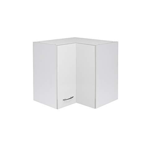 Flex-Well Küchen-Eckhängeschrank UNNA | Oberschrank vielseitig einsetzbar | 2-türig | Breite 60 cm | Weiß