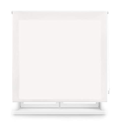 Blindecor Ara - Estor enrollable translúcido liso, Blanco Roto, 100 x 175 cm (ancho x alto)