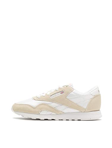 Reebok Womens Classic Nylon White/Light Grey Sneaker - 8