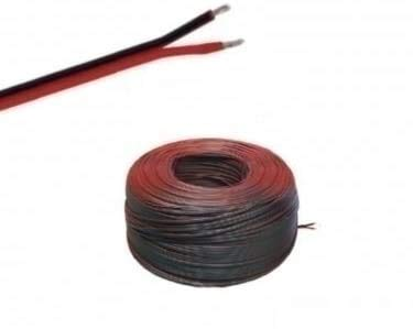 (0,50€/m)5m LED Kabel Zwillingslitze 2x 0,35mm² schwarz/braun 2-adrig