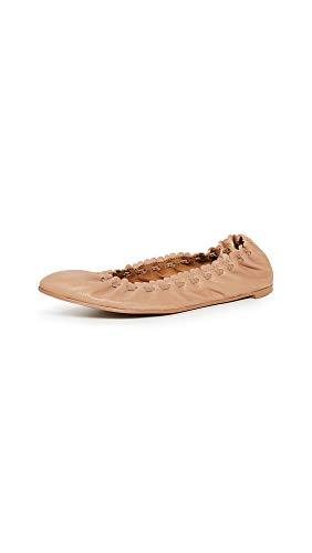 See by Chloe Women's Jane Point Ballet Flats, Biscotto, Tan, 7 Medium US