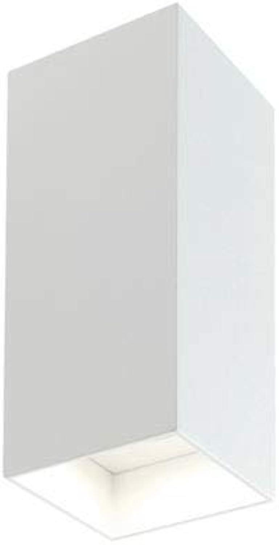 LED Auenleuchte Wandleuchte 2x 6W quadratische Sovil Tower wei