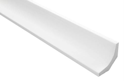 Zierleisten Sparpaket E-11 | leicht und stabil | extrudiertes Styropor | Stuckprofile | Decken-/ und Wandübergang | modern weiß | dekorativ | XPS | 35 x 35 mm | 50 Meter