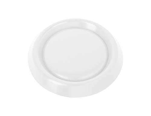 ADGO Difusor de rejilla de ventilación con rejilla de insectos, válvula de disco de ventilación, conexión de tubería redonda, cierre completo, instalación ajustable, fi 90-160 (blanco)