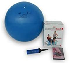 TheraGear 65cm/26 Swiss Exercise Ball Kit, Includes DVD & Pump