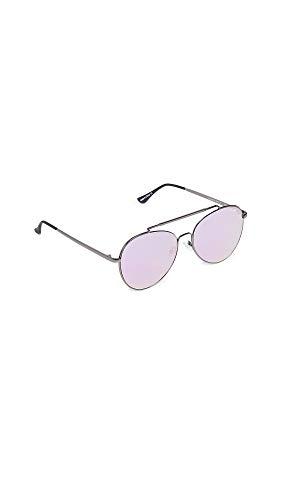 Quay Women's Lickety Split Sunglasses, Gunmetal/Purple, One Size