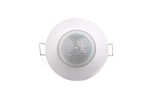 HUBER MOTION 12, Bewegungsmelder 360°, weiß, einbau, unterputz, energieeffizient, Präsenzmelder hochsensibel durch 3 Sensoren und Matrixlinsen
