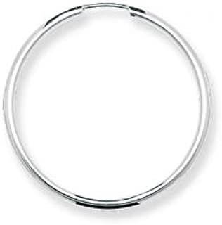 Orecchini a Cerchio da Donna Argento Sterling - 11, 13, 16, 25, 30, 43, 50, 58, 60mm WJS14913