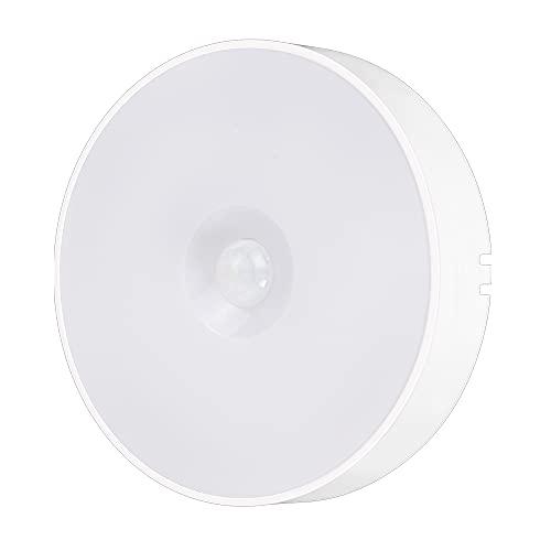 Festnight Lampada Sensore di Movimento Lampada di induzione del corpo umano Luce bianca 120 ° Luce di induzione a infrarossi Luce notturna Lampada di ricarica USB