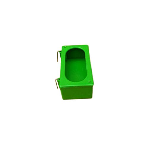 Bird Feeder Bown, Plastic Hanging Food Water Feeding Dish Bowl for Small Animals Like Dog Cat Bird Rabbit Chickens(11cm)