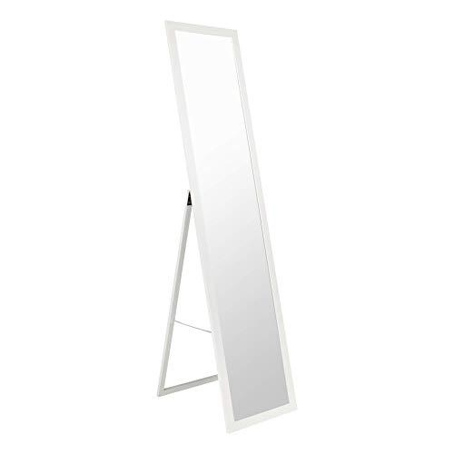 BD ART Stand-Ankleidespiegel Weiß 155,8 x 35,8 cm Standspiegel Garderobe Standspiegel weiß Zeitloser eleganter MDF Rahmen