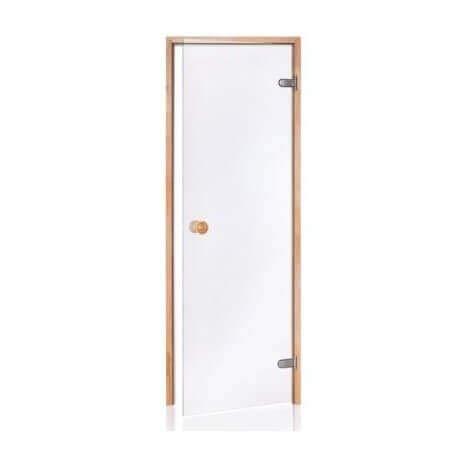 Desineo Sauna-Türe aus Glas sicher 8 mm Pinienrahmen 80 x 190 transparent